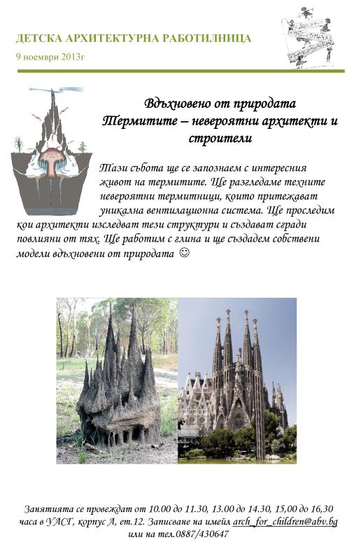 9 ноември 2013г - Термитите, невероятни архитекти и строители